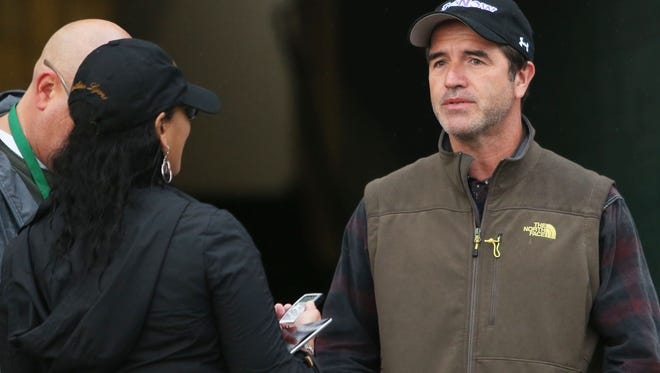 Keith Desormeaux chats with reporters Breeders' Cup week at Keeneland.