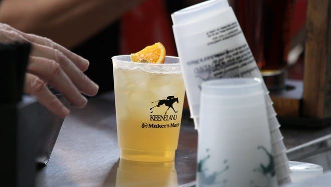"One of Keeneland's signature drinks, the ""Keeneland Breeze"" made with Maker's Mark, is a fan favorite."