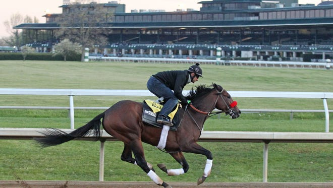 Nyquist took his first breeze around Keeneland's main track Friday morning in Lexington.