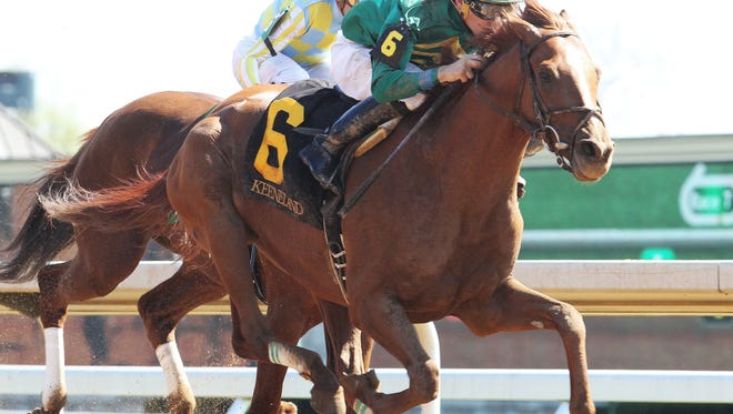 Eagle raced past Noble Bird to take Saturday's Ben Ali Stakes at Keeneland.