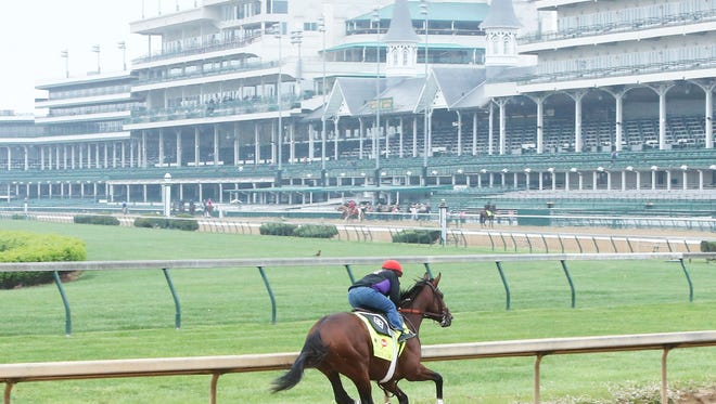 Brody's Cause works through the far turn at Churchill Downs. The parent corporation reported a strong first quarter for 2016.