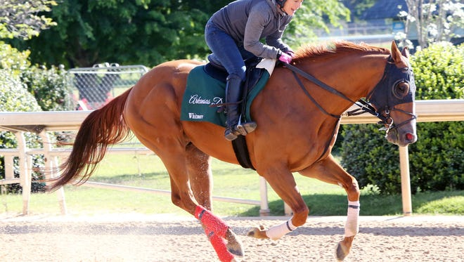 Whitmore gets in a gallop while at Oaklawn Park earlier this year.
