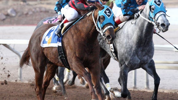 Bryn's Fancy Pants won the six furlong, New Mexico State Racing Commission Handicap on Sunday at Sunland Park Racetrack & Casino. Alfredo Juarez Jr. was the winning jockey.