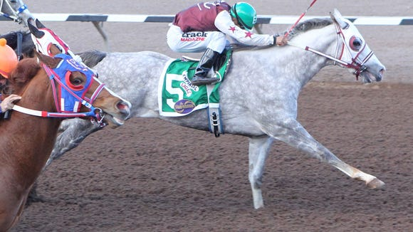 2016 All American Futurity winner Imperial Eagle won Saturday's Sunland Park Winter Juvenile Championship at Sunland Park with Esgar Ramirez aboard on Saturday at Sunland Park Racetrack & Casino.