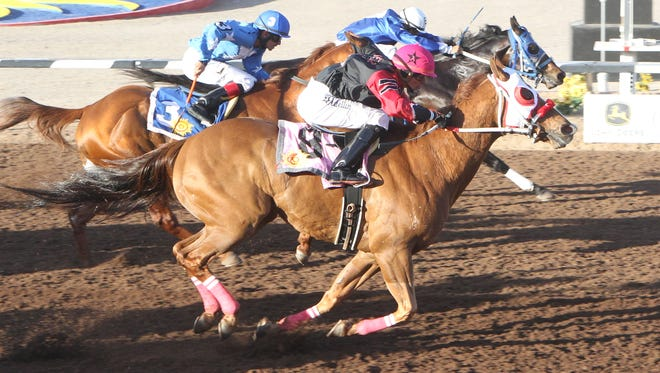 Klassic Strawfly won the West Texas Maturity on Friday at Sunland Park Racetrack & Casino.