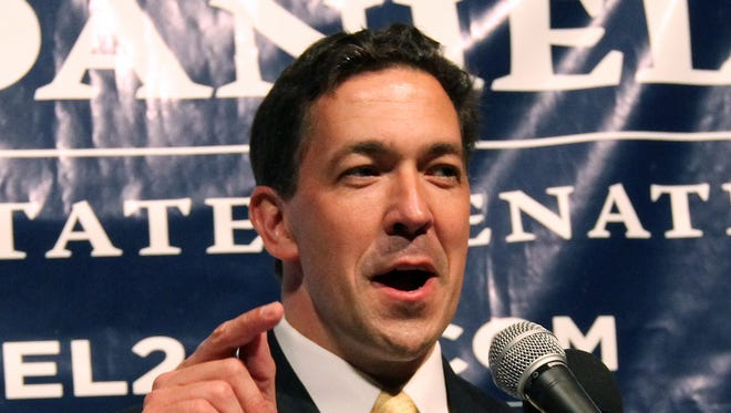 Chris McDaniel addresses his supporters on Tuesday June 3, 2014, at the Lake Terrace Convention Center in Hattiesburg, Miss.