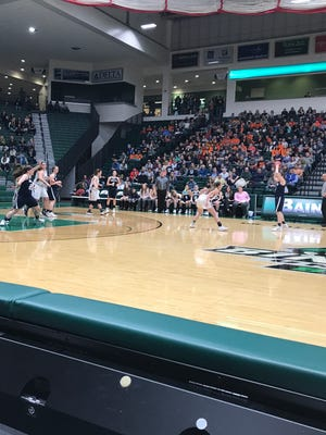 Action from Friday night's MAC girls basketball championship at BU's Events Center.