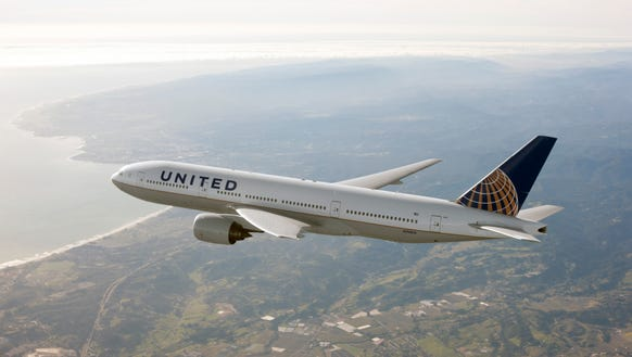 A file photo of a United Airlines Boeing 777 aircraft.