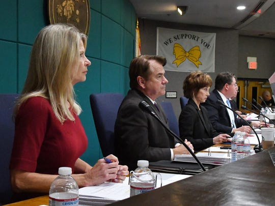 Brevard legislative delegation held a packed to capacity meeting in the Palm Bay Council Chambers on January 15 to discuss a wide variety of issues. The five members, all Republicans, included Debbie Mayfield and Thad Altman, seen here.