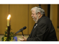 Rabbi Emeritus Stephen Leon prays during Yom HaShoah