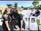 El Paso Police Chief Greg Allen talks with the Ortiz