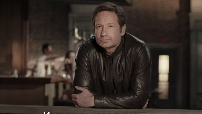 David Duchovny in Russian beer ad.
