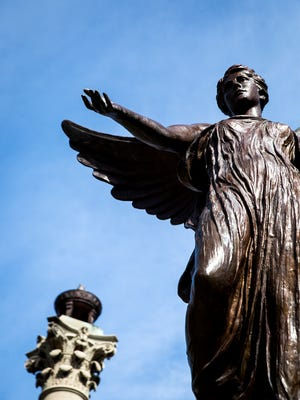 """Ball State's Beneficence aka """"Benny"""" for the Directions cover."""