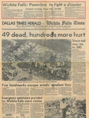 Front page of the joint effort by the Dallas Times Herald and the Wichita Falls Times April 11; 1979.