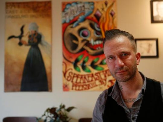 Patrick Conlon, owner of Speakeasy Tattoo in Peekskill on Nov. 12, 2014.