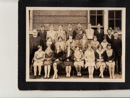 Holy Name students pose in this photo from circa 1934-39. Holy Name celebrates its 145th anniversary in 2016.