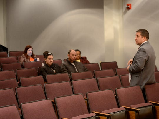 Benjamin Torres with the Tennessee School Board Association at a community forum during a previous search for a new Jackson-Madison County superintendent. The JMCSS board is against consulting with TSBA on a superintendent search following Eric Jones' departure.