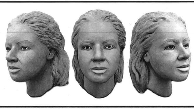 A computer rendering of a female body found in a wooded area of Wolcott, Wayne County, in 2002.