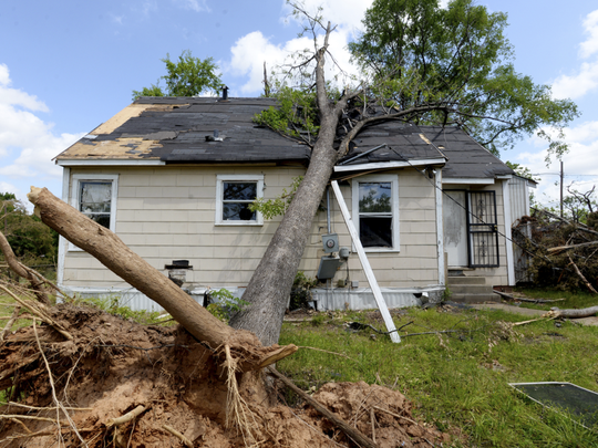 Photo shot in May 2018 of storm damage in the Queensborough neighborhood.