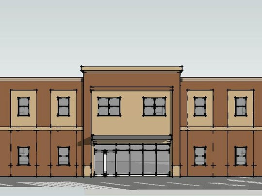 Rendering of two-story office complex in Nolensville