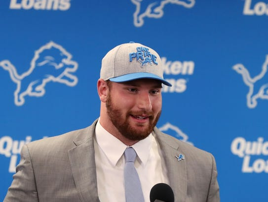 The Detroit Lions first-round NFL football draft pick