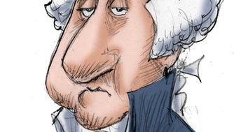 Gary Varvel's caricature of President George Washington.
