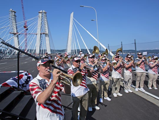 Tappan Zee Bridgemen perform during opening ceremonies