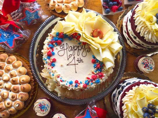 A selection of Fourth of July desserts from The Flaky