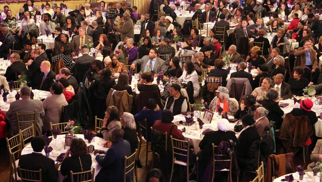 Guests are seated at the Nepperhan Community Center 30th Annual Dr. Martin Luther King Jr. Awards Dinner at the Castle Royale in Yonkers. More than 500 people attended the event. Meanwhile, a letter-writer complains about getting a parking ticket in Yonkers on the federal holiday.