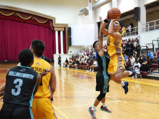 The Father Duenas Friars hosted the Southern High Dolphins in an Independent Interscholastic Athletic Association of Guam Boys' Basketball League game at the Phoenix Center on Jan. 22.