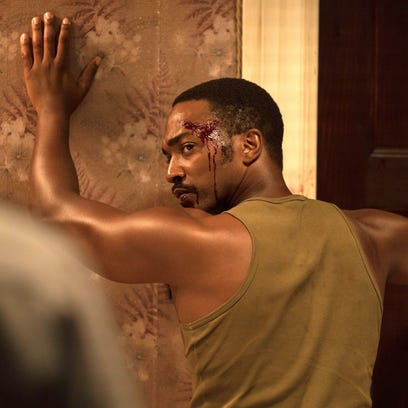 "Anthony Mackie in a scene from the movie ""Detroit,"""