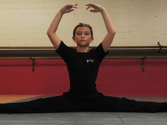 Ventura County Ballet Company student Jonah Tillery