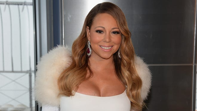 Mariah Carey attends the 20th annual Valentine's Day Wedding Event at The Empire State Building.