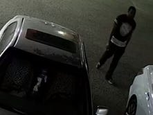 Police search for suspect who hid in woman's car