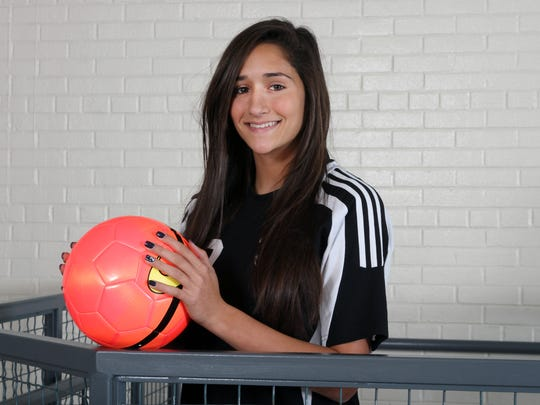 The Home News Tribune Girls Soccer Player of the Year is Julianna Franco of South Brunswick.