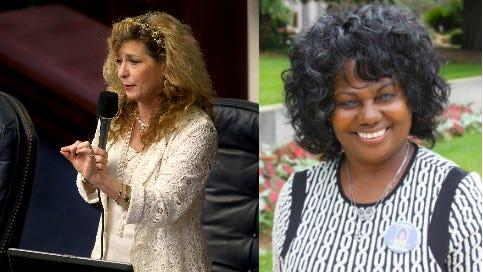 Rep. Michelle Rehwinkel Vasilinda and Arnitta Grice-Walker