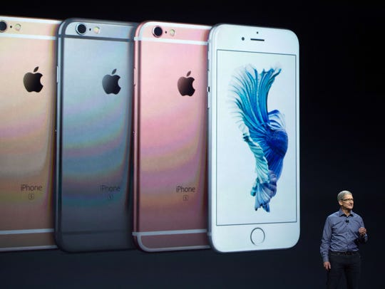 In this Sept. 9, 2015, photo, Apple CEO Tim Cook introduces