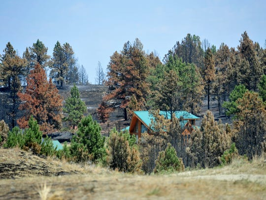 A residence on Old Stage Road saved in the Lodgepole Complex Fire by fire fighting efforts.