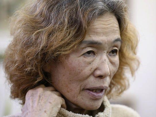 Junko Ishido, the mother of Japanese hostage Kenji