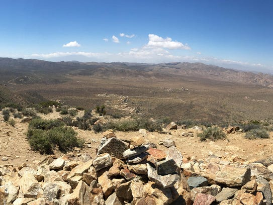 Joshua Tree National Park is seen from the summit of