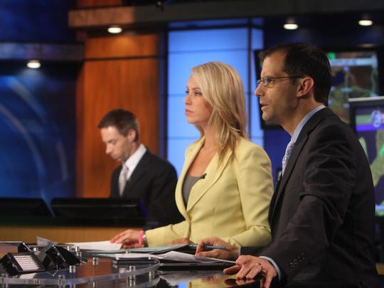 13WHAM will be taking over the local news content for Fox Rochester since both companies are owned by Sinclair Broadcast Group on Jan. 1.  L-R  Jennifer Johnson and Evan Dawson anchor 13WHAM News This Morning on Sept. 30, 2013.  In the background is Marty Snyder a meteorologist with 13WHAM.