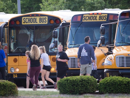 first day back at Noblesville West Middle School, following Friday's shooting by a student that left a teacher and a student injured. The shooter is in custory after the school shooting.