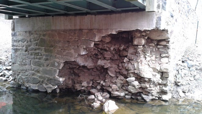 Damage to the structure of the bridge over Rocky Run in Brandywine Creek State Park forced state officials to permanantly close the bridge to all traffic.