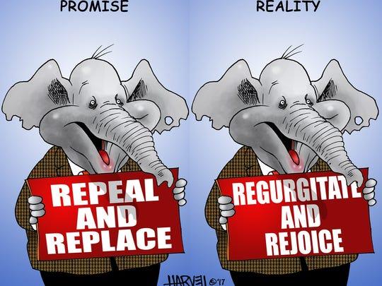 Roger  Harvell Cartoon