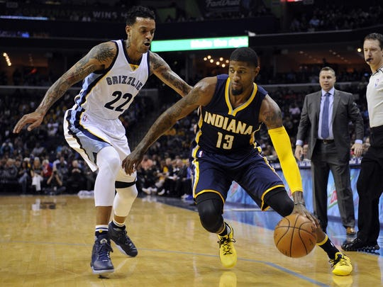 Pacers forward Paul George had 29 points, but didn't get help from Indiana's other starters in a loss to the Memphis Grizzlies.