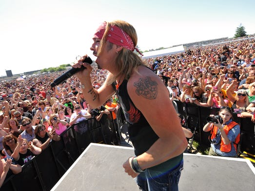 Carb Day concerts are a festive part of each Friday before the Indianapolis 500. This gallery showcases performers at Indianapolis Motor Speedway from 2005 to 2013 (when Bret Michaels sang with Poison).
