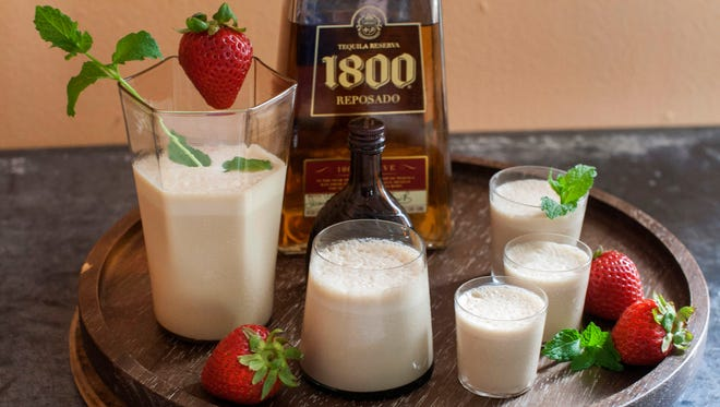 A Texas tequila milkshake in Concord, N.H.  on June 9, 2014. Aged tequilas pair beautifully with ice cream. The alcohol will prevent the mixture from freezing solid.