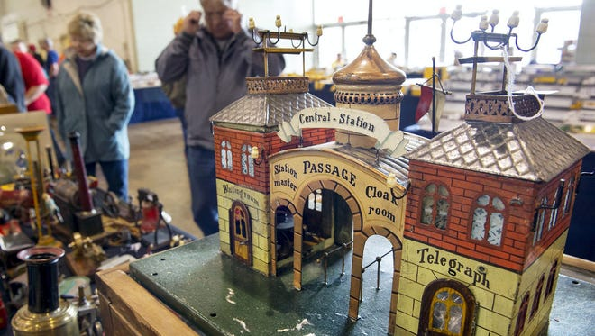 A Marklin train station from about 1900 is displayed at the 2013 Greater York Toy Extravaganza. This year's toy show is set for Sunday, Nov. 27, in Memorial Hall at the York Expo Center.