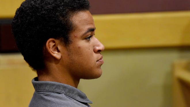 Zachary Cruz, brother of Florida school shooting suspect Nikolas Cruz, sits during a court hearing for his brother in Fort Lauderdale, Fla., Friday, April 27, 2018. Nikolas Cruz is charged with 17 counts of murder and 17 counts of attempted murder in the Feb. 14, 2018 school shooting at Marjory Stoneman Douglas High School in Parkland, Fla.