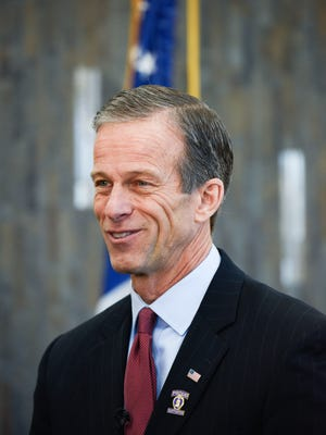 U.S. Sen. John Thune (R-S.D.) attends a Purple Heart medal ceremony on Wednesday, Dec. 27, 2017, in Sioux Falls, S.D. Thune gave Korean War veteran Eugene Coyle a Purple Heart medal for his service.